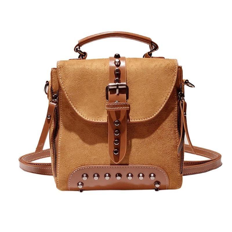 Casual Women Rivet Backpack Small Ladies Vintage Shoulder Travel Bag Mini  School Crossbody Bag For Girls Teenage Female Backpacks For School Laptop  ... 6cf8d99707988