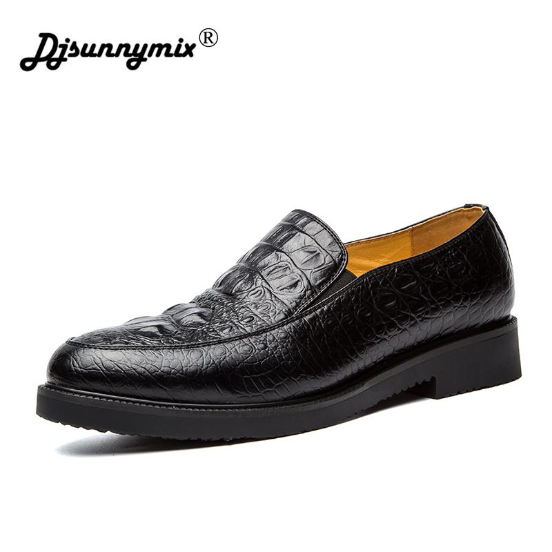 76d4b1acd61ce DJSUNNYMIX Brands Male Dress Shoes Crocodile Print Leather Men Shoes  Business Leather Shoes Spring Autumn Tennis Shoes Oxford Shoes From Ycqz4