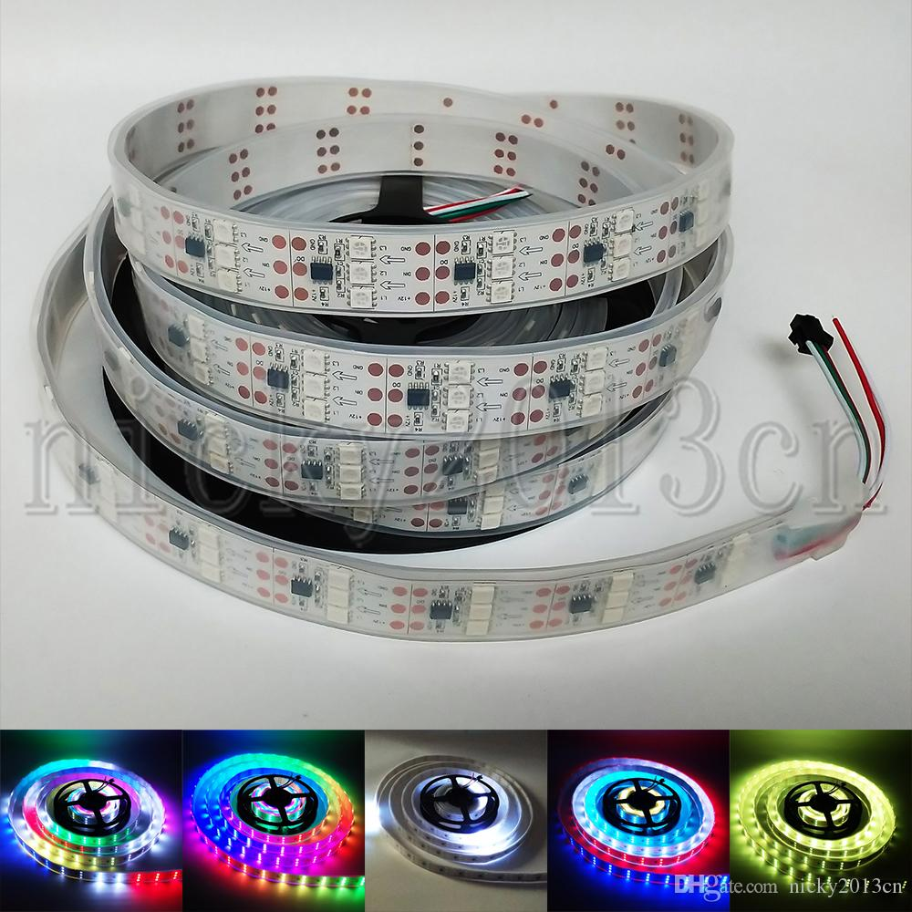 12V WS2811 5050 RGB LED Pixel Flexible Strip Light 5M 450LEDs Addressable  Magic Color Chasing 3 Rows IP67 Tube Waterproof 90LEDs/m