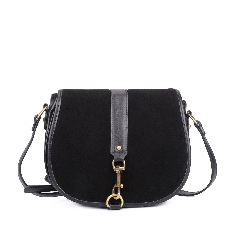 1a5e5dcc6b42 Black Vintage Woman Saddle Mini Crossbody Bag Pig Packets Patchwork  Suede PU Leather Small Bag High Quality Ladies Shoulder Bag CT22389 Black  Purses ...