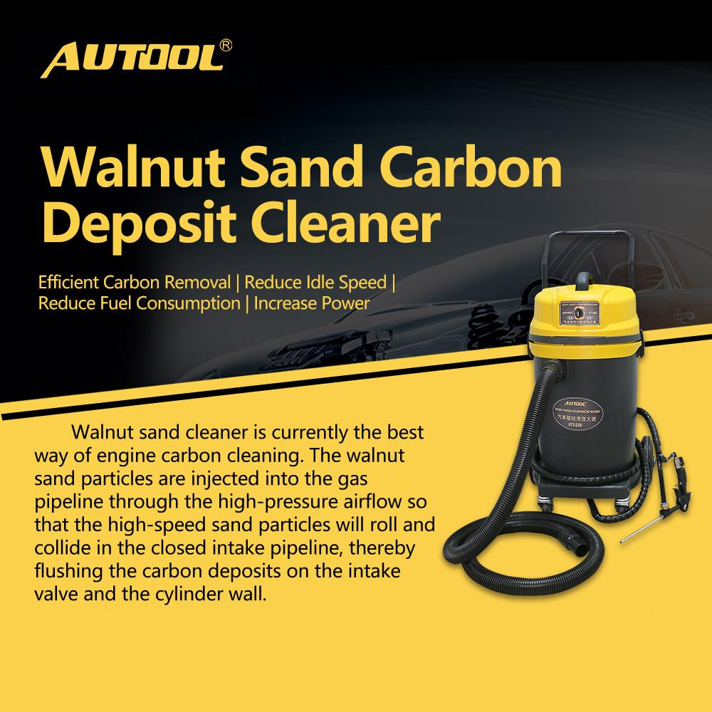 AUTOOL HTS668 220V Car Engine Carbon Deposition Cleaner Intake Pipe Valve  Machine Auto Decarbonizing Automotive Decarbon Wash