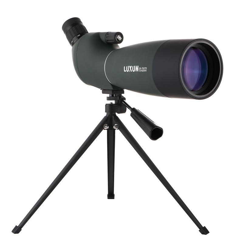 HD Spotting Scope Astronomy 25-75x70mm BAK4 Zoom 45 De Nitrogen Hunting Birdwatch Monocular Telescope