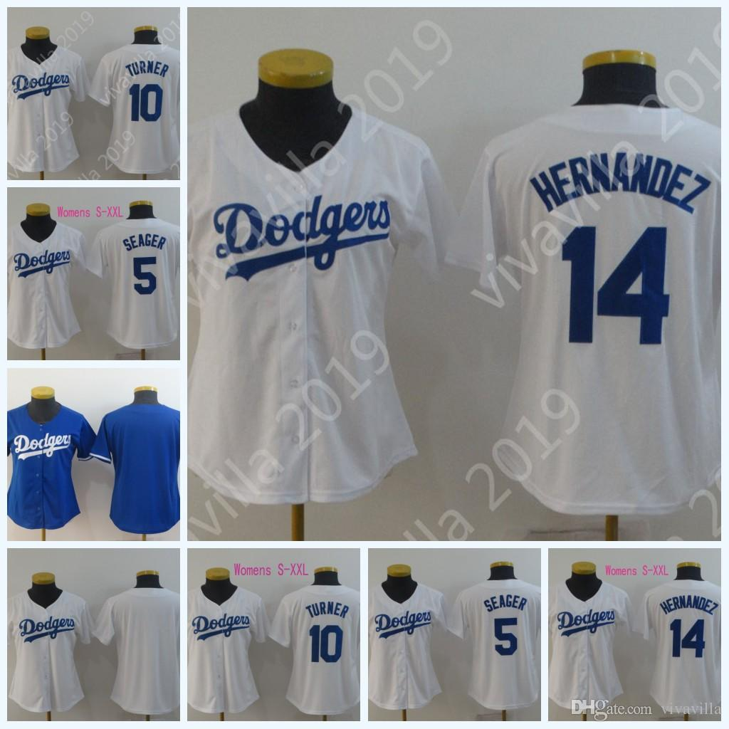 release date: fea0d f2bdc Womens 2019 Los Angeles 14 Enrique Hernandez 5 Corey Seager 10 Justin  Turner Stitched Dodgers Baseball Jerseys Blue White Fast Shoping