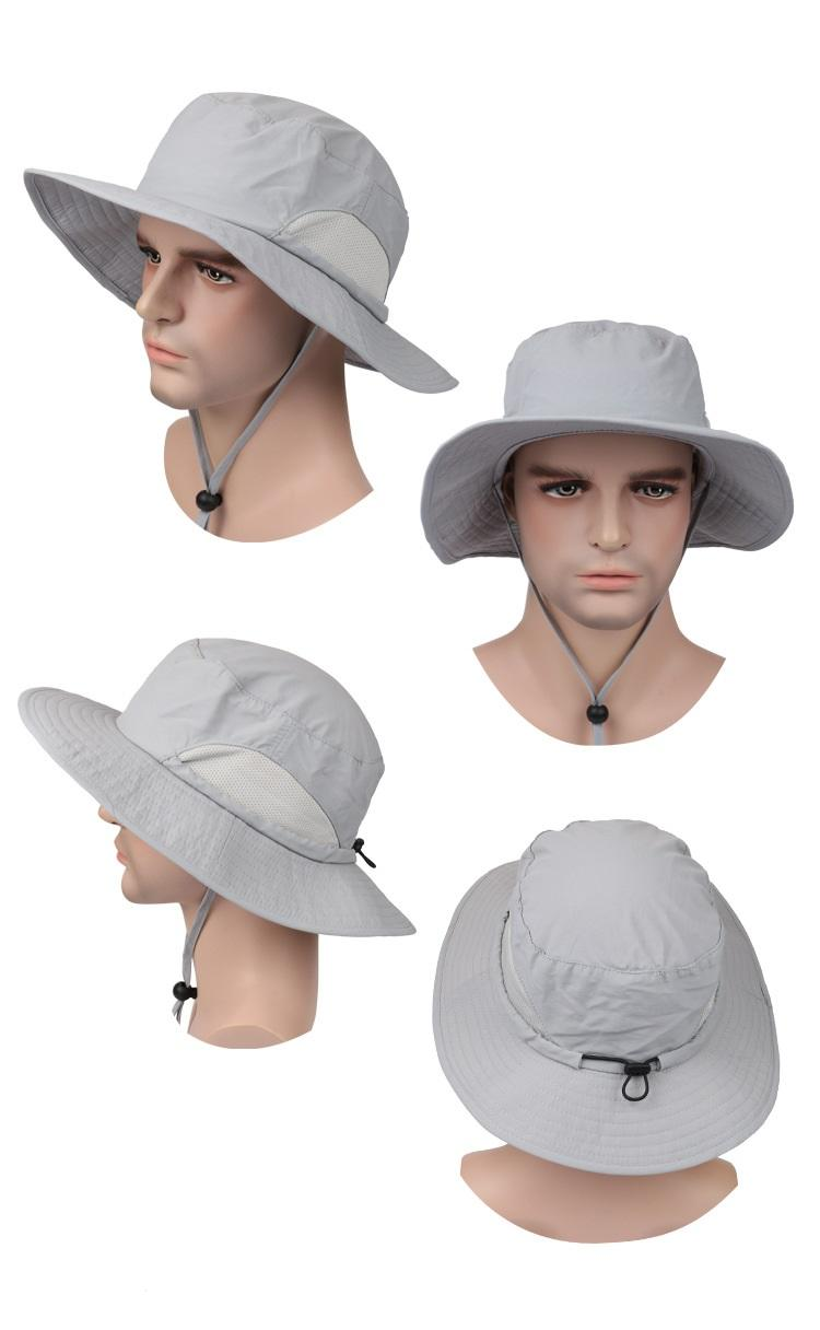 9c231843 Unisex Wide Brim Boonie Cap Sunblock Foldable Fishing Hiking Hunting  Outdoor Bucket Hats Sun Protective Fisherman Hats Kentucky Derby Hat Cheap  Hats From ...