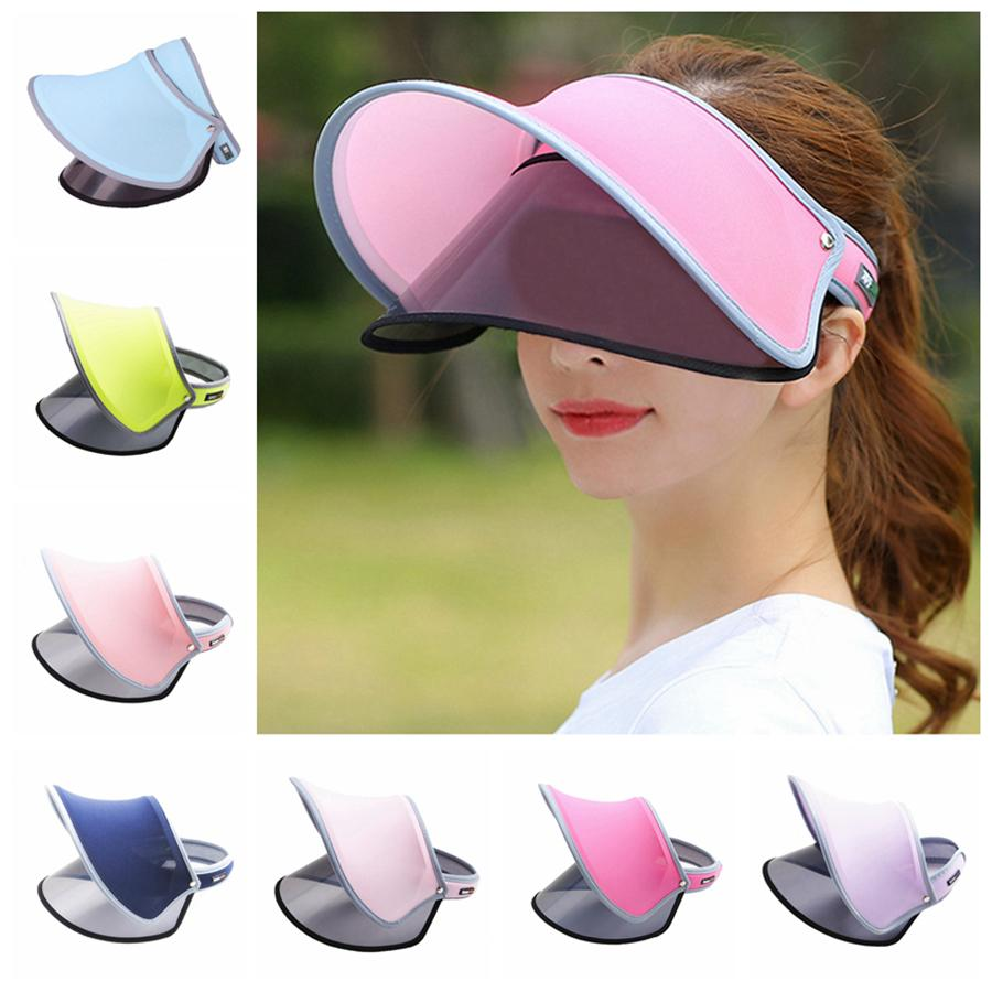 4ba856bfe0a Summer Travel Sun Hat Outdoor Anti-ultraviolet Mask Empty Top Beach Sports  Sun Visor Hat Golf Caps Stylish Women Outdoor Tennis Caps RRA80 Sun Visor  Hat ...