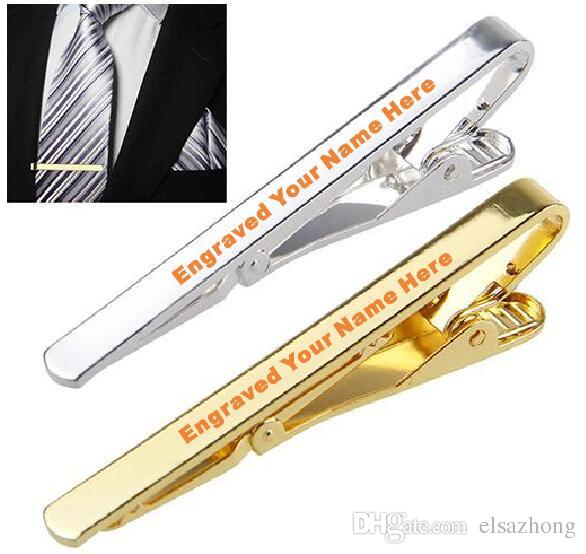 5b74636111e2 2019 Laser Engraved Personalised Logo Metal Necktie Tie Bar Clip Customized  Breastpin From Elsazhong, $7.92 | DHgate.Com