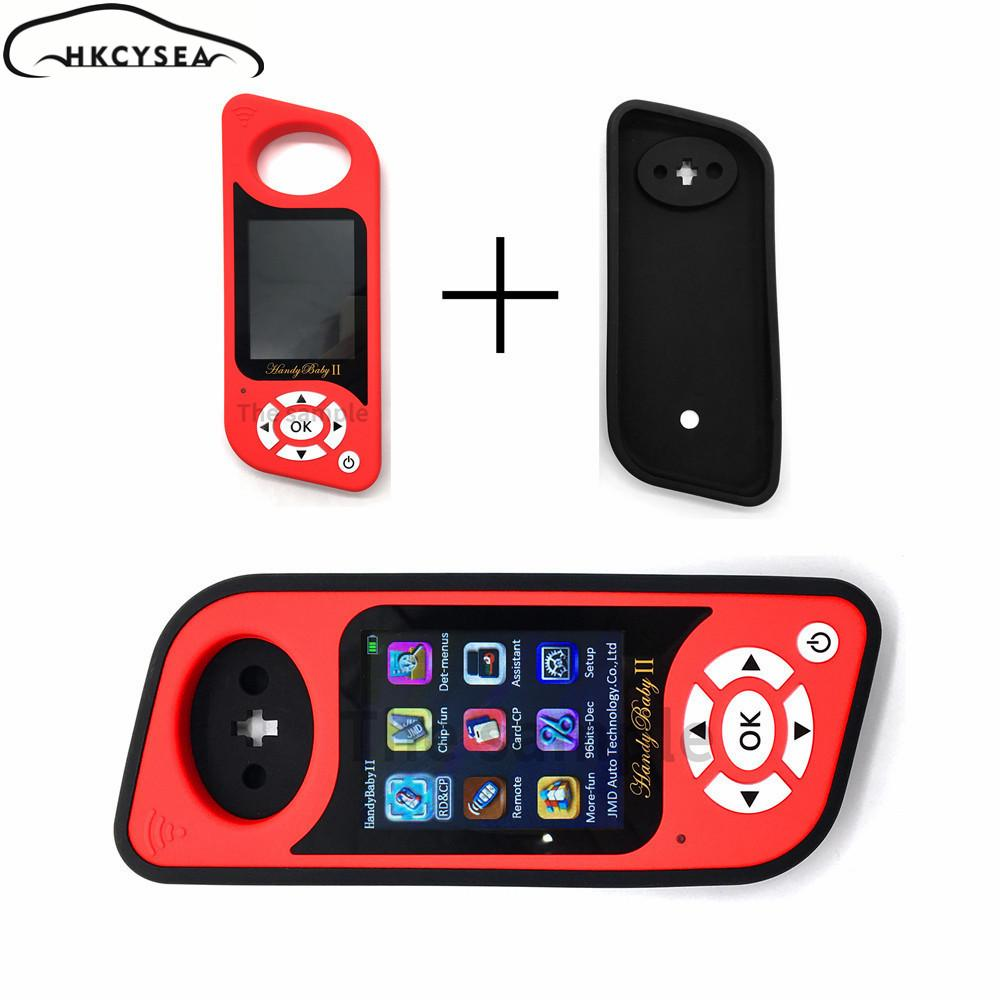JMD Handy Baby II Auto Key Tool for 4D/46/48/G Chips Programmer Handy Baby  2 English/Spanish Language with Silicone Case