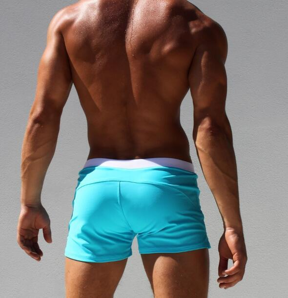 ad4c6e03960ca 2019 Hot Sexy Men Swimwear Brand AQUX Men S Swimsuits Surf Board Beach Wear  Man Swimming Trunks Boxer Shorts Swim Suits Gay Pouch From Kaway
