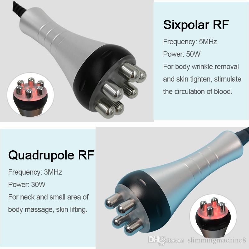좋은 결과와 스파를위한 새로운 추진 5에서 1 초음파 Cavitation 진공 무선 주파수 sixpolar RF 슬리밍 기계