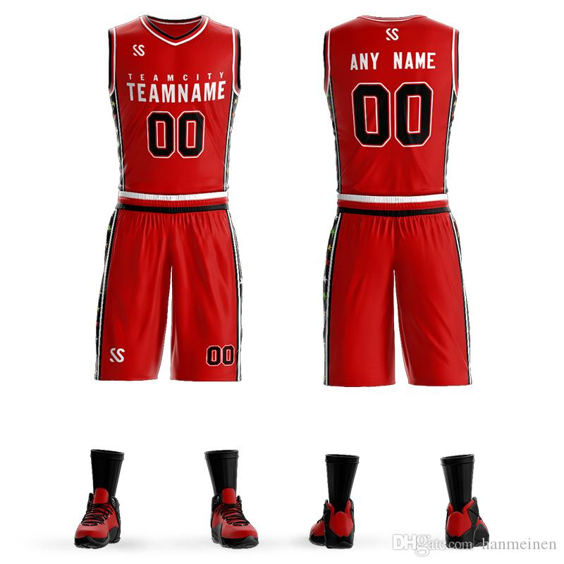 1ad216379f 2019 New Men Kids Basketball Training Jersey Set Blank College Tracksuits  Breathable Sport Basketball Uniforms Custom From Hanmeinen, $23.36 |  DHgate.Com