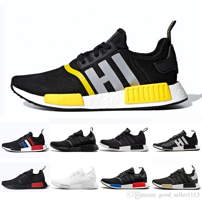 7a95e0eb95ded 36 45 Thunder Bred Atmos NMD R1 Running Shoes Men Women Tri Color OG  Classic Japan Triple Black White Red Marble Sports Trainer Sneakers Running  Accessories ...