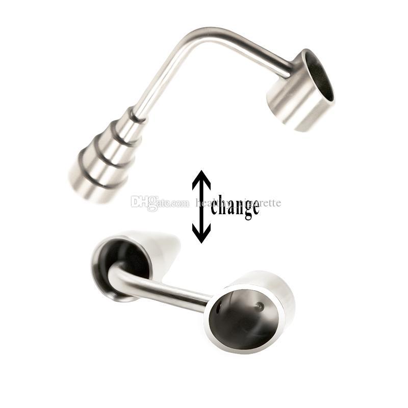 Domeless titanio clavo de 10 mm 14 mm 18 mm de uñas Conjunto de titanio con Hombre Mujer conjunta para Ash Catcher Conjunto de cristal Bongs