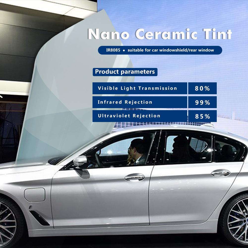 65/%VLT Light Blue Car Window Nano Ceramic Solar Tint Anti UV Heat Resist Tint