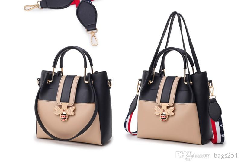 2019 Fashion Women Bag Sets Bee Pearl Female Luxury Handbags Designer Big Ladies Shoulder Bag Famous Brands Leather Casual Tote