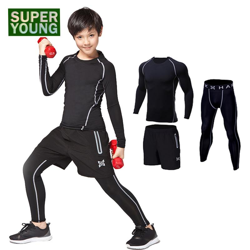 e0fd617f297d 2019 Children Sport Running Tracksuit Kids Gym Clothing Men Workout Fitness  Boys Training Clothes Sportswear Jogging Tights Suits Set From Johiny, ...