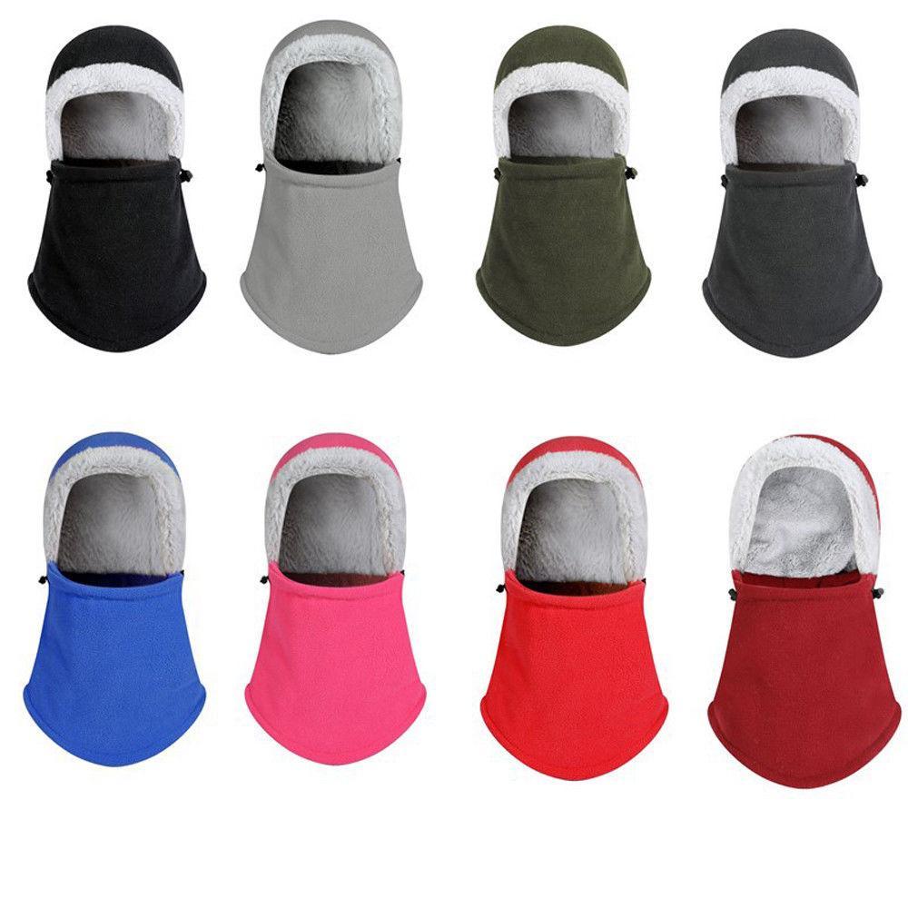 90d9aab655d 2019 Unisex Polar Fleece Hood Hat Beanie Ski Snow Cap Snood Scarf Warmer  Thermal Face Neck Mask Hood Cap From Fotiaoqia