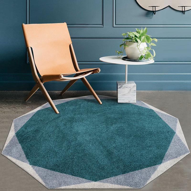 Basse De Rond Sol Salon Décoration Pour Table Chevet Rétro Design Tapis Luxe Motif Chambre La Maison FlK1Jc