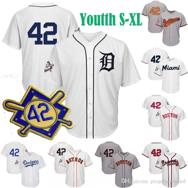 quality design fe9fa c0c1f Youth 2019 Jackie Robinson Day Jersey St. Louis Seattle Washington  Baltimore Brooklyn Dodgers Houston New York Minnesota Baseball Jerseys