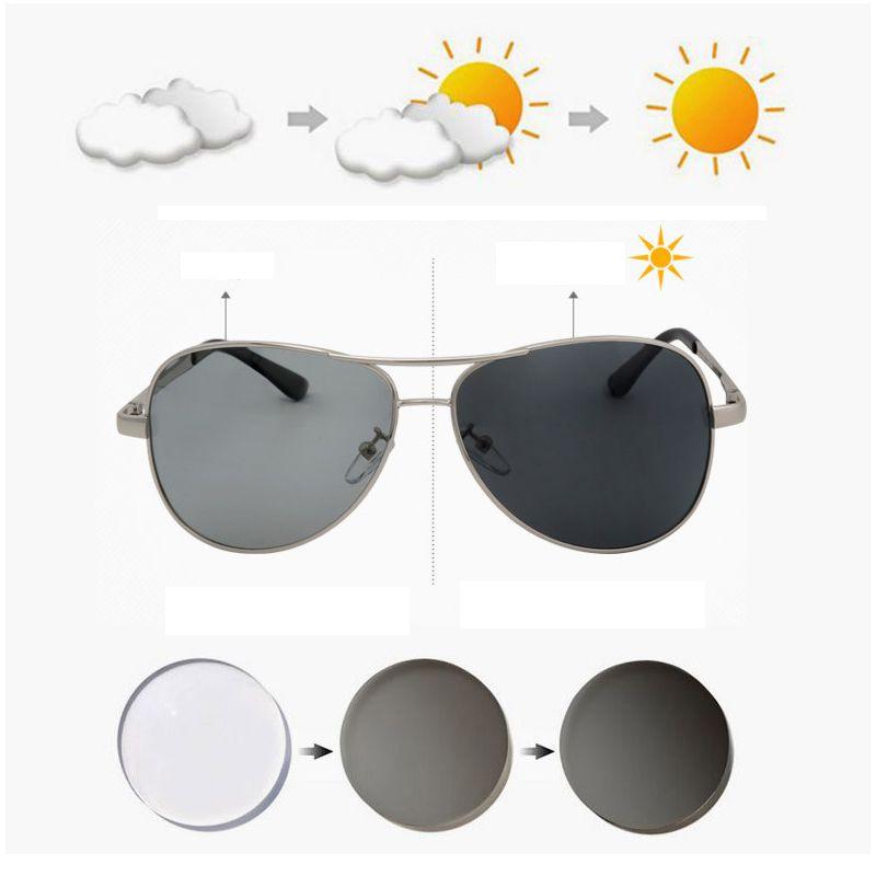 319d750ca5 Compre Piloto Polarizado Gafas De Sol Fotocromáticas Hombres Que ...