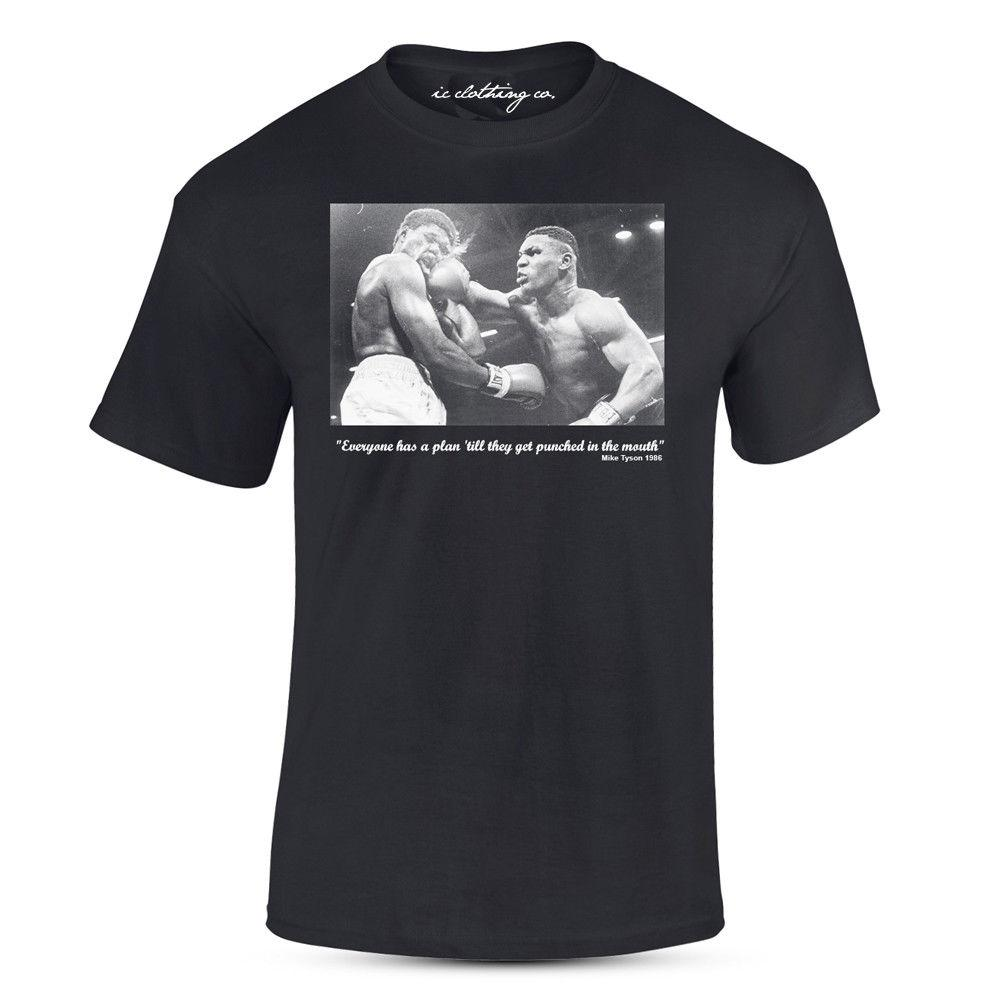 d019e671026 Iron Mike TYysonor Quote Punched In The Mouth Black T-Shirt Box-ing ...