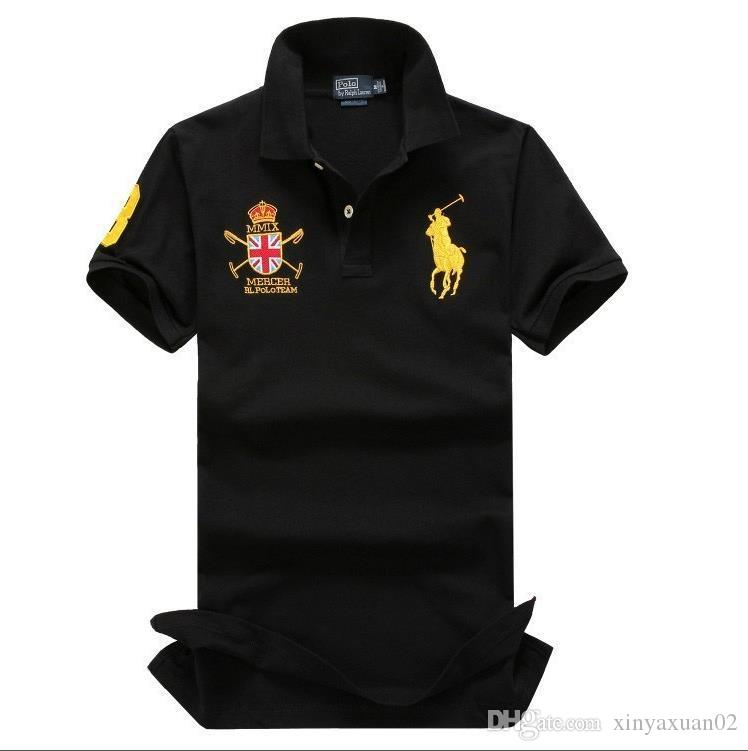 50fd1bd29ea 2019 2019 Brand Summer New Men S Boutique Embroidery Breathable 100% Cotton  Polo Shirt Lapel Men S Air Force One Polo Shirt Size M XXL From  Xinyaxuan02