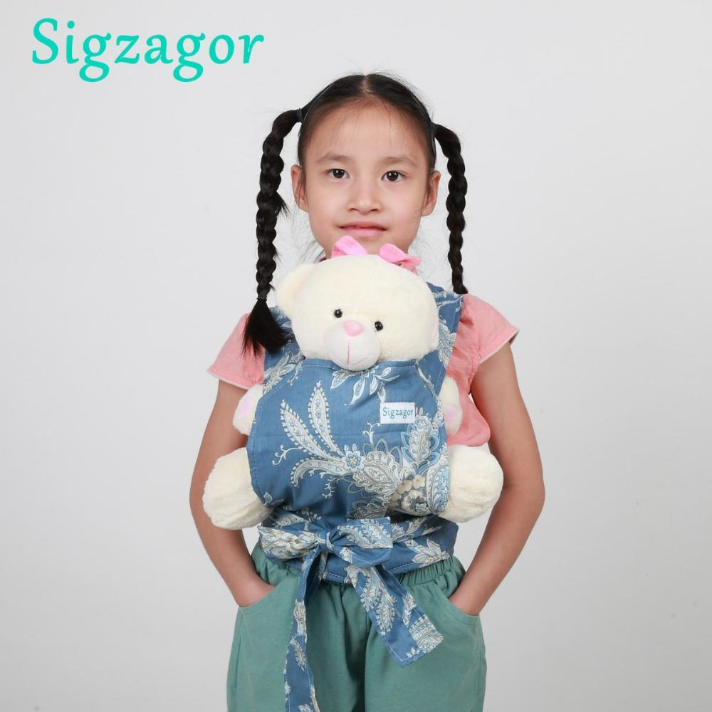 bb4aca965e5 Sigzagor 10 Baby Doll Carriers Mei Tai Sling Toy Kids Children Toddler Gift  Cotton