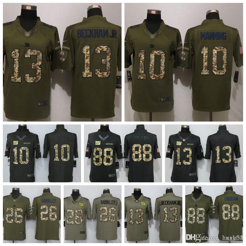 hot sales e18ff ea887 Mens New York Giants Jersey 26 Saquon Barkley 13 Odell Beckham Jr 21 Landon  Collins 10 Eli Manning 88 Engram Football Jerseys