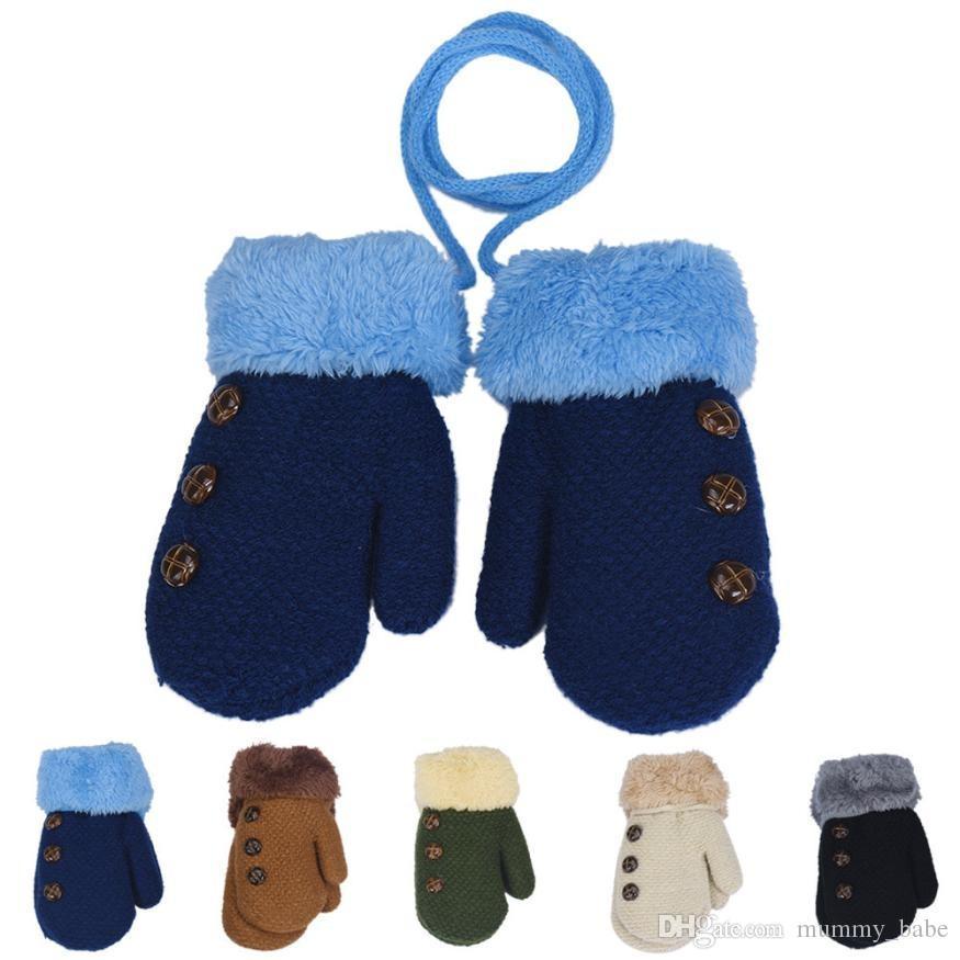 88ce3363e Winter Baby Boy Girl Gloves Cotton Kids Full Finger Mittens Leaf ...