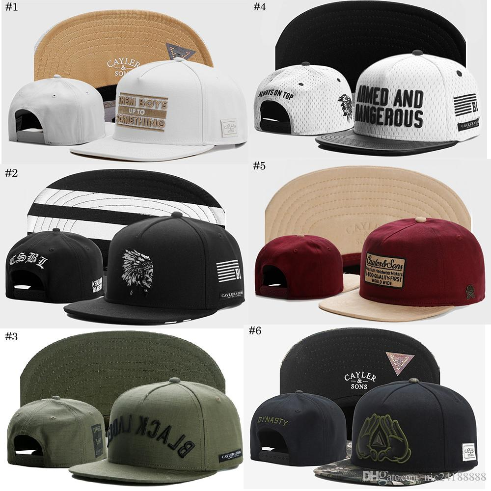 d96d055d1fd Snapbacks Hats Cayler   Sons New Design Hip Hop Fashion Snapbacks  Adjustable Hats Men Caps Women Ball Caps Top Quality DJ Street Flats Caps  Hats for Cayler ...