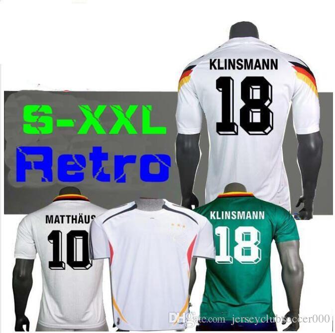 ce1a1c70a59 2019 Men 1990 1980 Vintage Soccer Jersey Germany Football Shirt Kits 2018  World Cup 10 Matthaus 18 Klinsmann 3 Podolski 11 Rummenigge 13 Voller From  ...