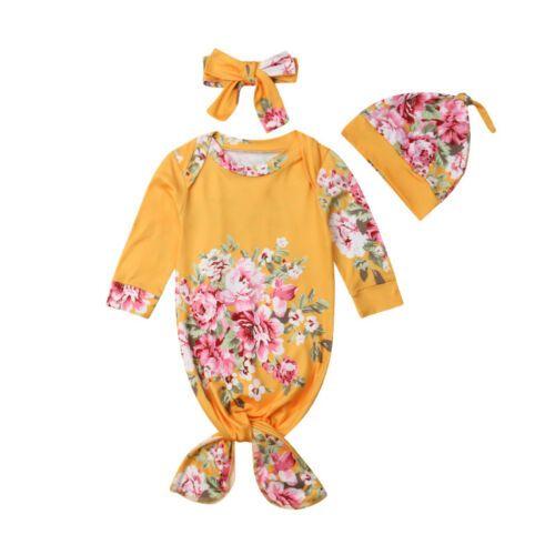 US Newborn Baby Flower Snuggle Swaddling Wrap Blanket Sleeping Bag Swaddle 3Pcs