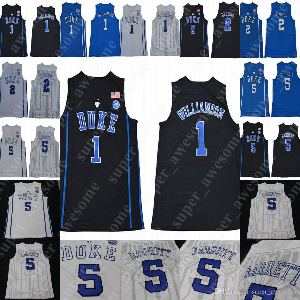 a26e52d2aede 2019 2019 NCAA Duke Blue Devils 1 Zion Williamson Jersey 5 RJ Barrett 2  Cameron Reddish College Basketball Jerseys Royal Blue Black White From  Super awesome ...