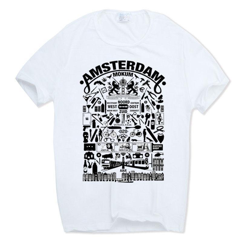 5d7dafc4c6a2fe Hecoolba 2019 Men Print Flag Amsterdam Netherlands T Shirt O Neck Short  Sleeves Summer Casual Fashion Male T Shirt Hcp743 Funky Tee Shirts Humor T  Shirt ...