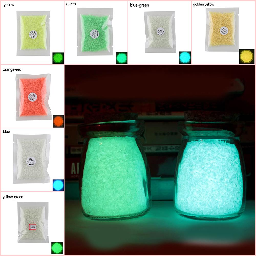 Bright Colorful Glow Gravel Luminous Noctilucent Sand Fish Tank Aquarium Fluorescent Particles Party Decoration DIY Glow