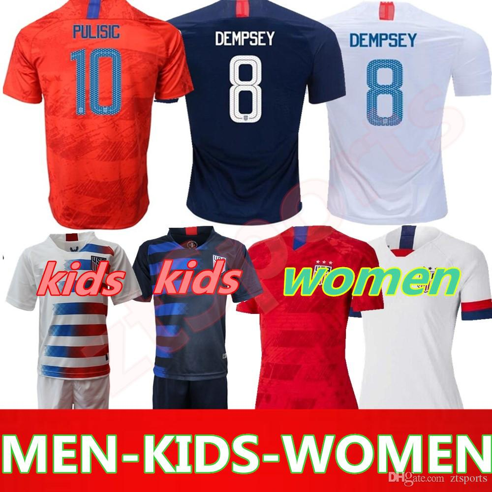af210083fbd 19 20 USA PULISIC Soccer Jersey 2019 Men Kids Kit DEMPSEY BRADLEY ALTIDORE  WOOD America Football Jerseys United States Shirt Canada 2019 From  Ztsports