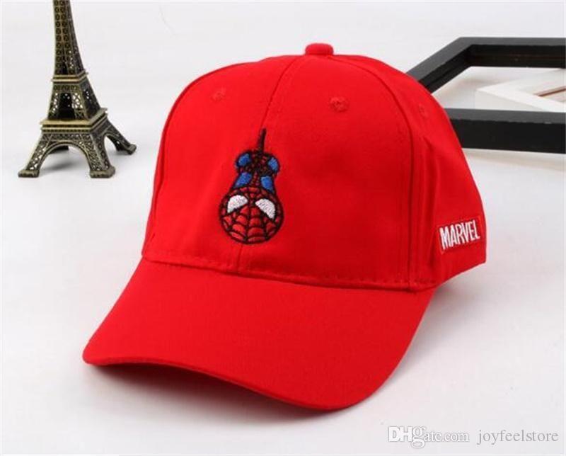 Compre 2018 Moda Nuevo Bebé Snapback Sombreros Gorra De Béisbol De Dibujos  Animados Al Aire Libre Gorras Ajustables Spider Man Diseñador Sombreros A   2.94 ... 30582fd11e9
