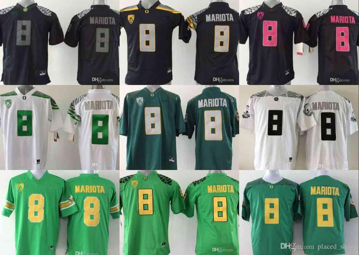 low priced 53fba 2593f 2019 NCAA 8 Marcus Mariota Jersey College Oregon Ducks Football Jerseys  Green Black Yellow White jersey S-3XL