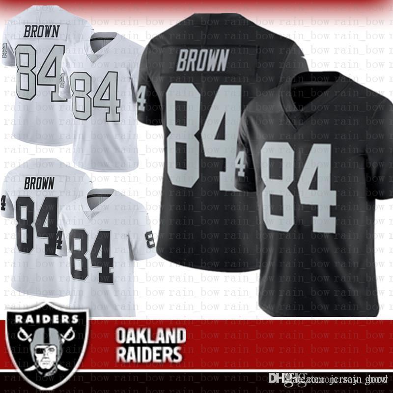 purchase cheap fef7b cff48 hot Oakland 84 Antonio Brown Raiders Jersey 2019 New 24 Marshawn Lynch 34  Bo Jackson Black white Limited Football Jersey