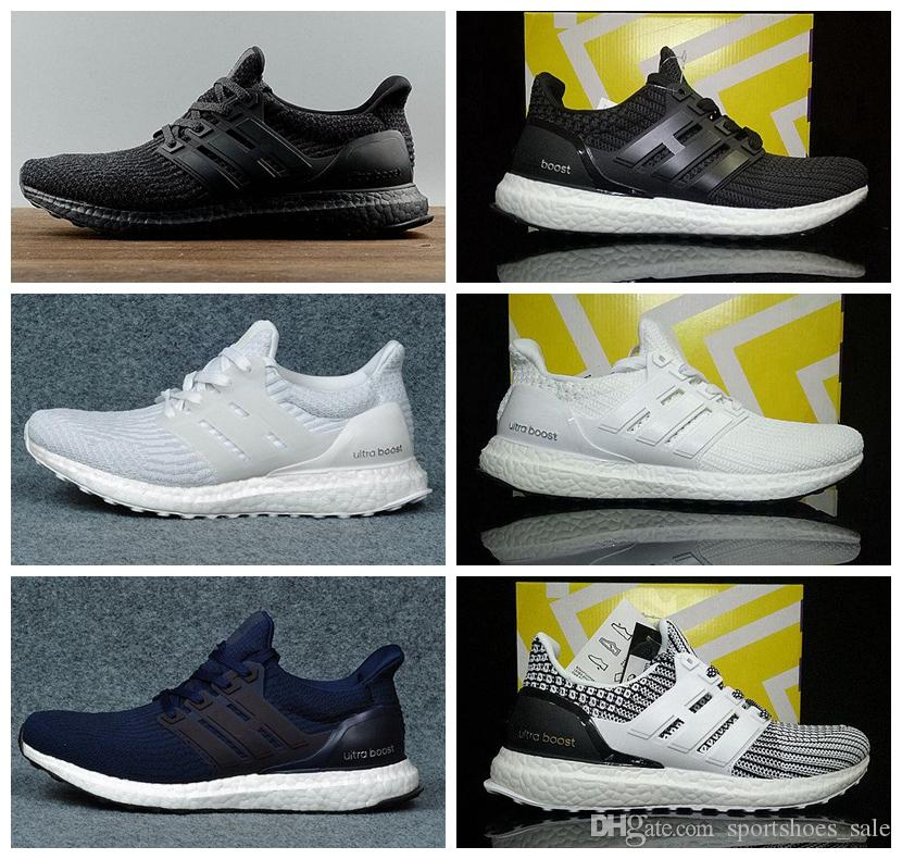49bff872d47ea Ultra Boost 3.0 4.0 Running Shoes For Men And Women Stripe Balck White Oreo  Designer Sneakers Ultraboost Sport Shoes Size 36 45 Neutral Running Shoes  Winter ...