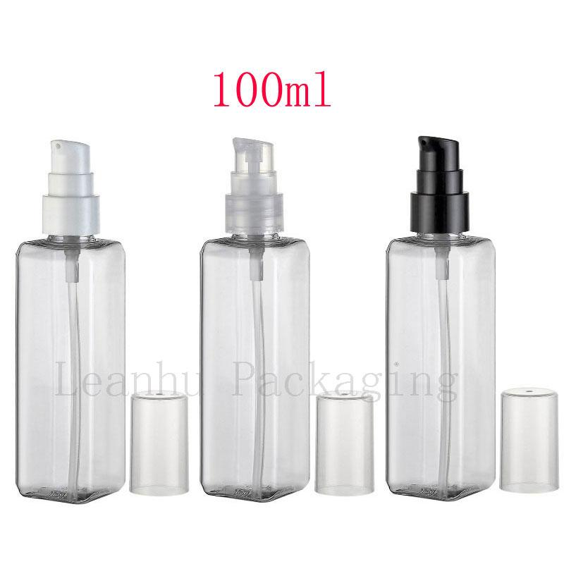 Skin Care Tools 100ml Pet Spray Bottles Empty Colorful Atomizer Perfume Vials Silver Rim Cosmetic Packing Container.