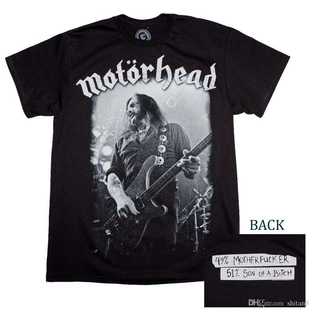 7bddf75b Motorhead Lemmy Live Performance T Shirt High Quality Custom Printed Tops  Hipster Tees T Shirt Shirts Designer Designer White T Shirts From Shitan5,  ...