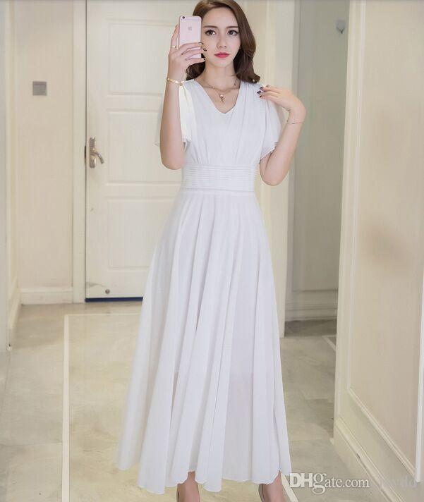 2018 New Fashion Fat Sister Summer Dress Big Size Chic Dress Chiffon