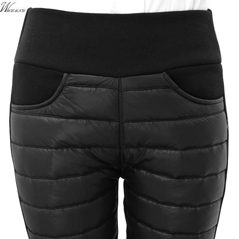 Acheter Épaissir Bas Coton Hiver Pantalons Chauds Femmes Taille Élastique  Dames Pantalons Skinny Leggings Décontractés Femmes Outwear Pantalon Femme  De ... 45f8104f07d