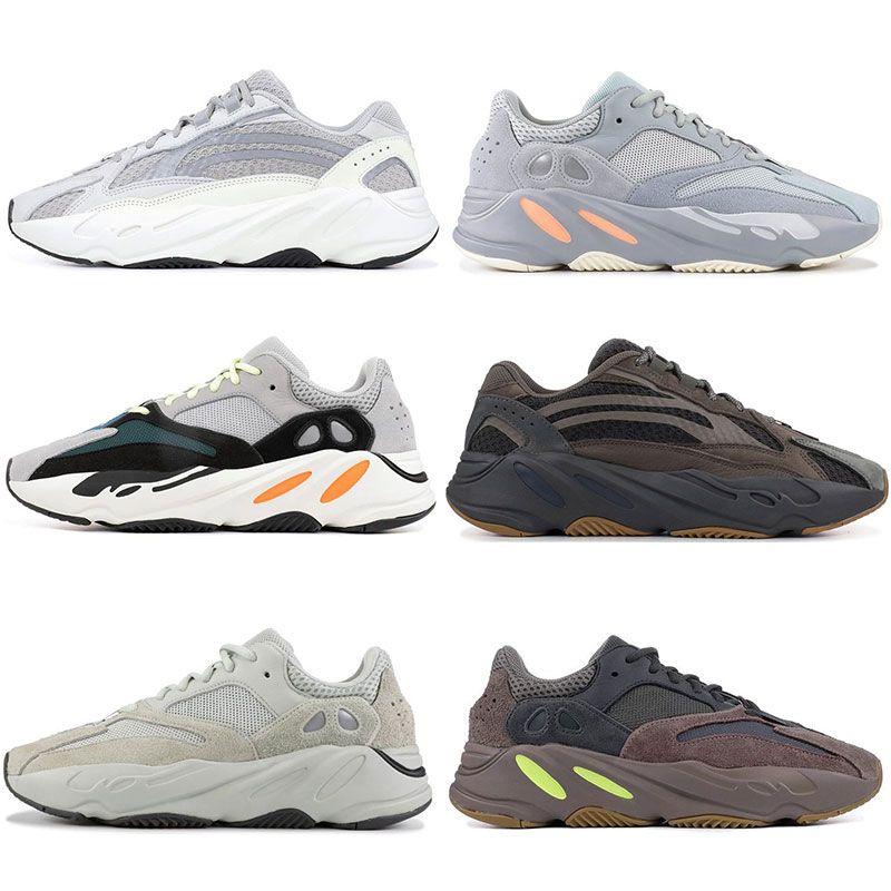 b60c6017dd2b2 New Salt INERTIA 700 Kanye West Wave Runner Static 3M Reflective Mauve  Solid Grey Running Shoes Men Women Sports Sneaker Shoes Size 36 46 Womans  Running ...