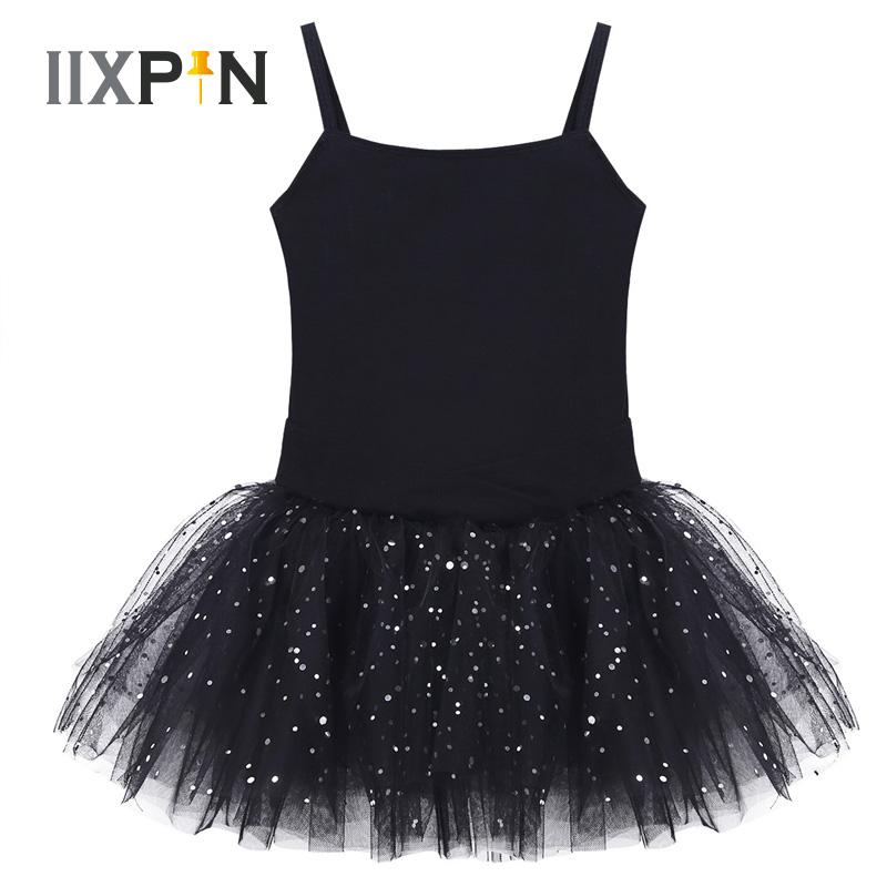 a31b372fa 2019 IIXPIN Kids Girls Camisole Tutu Dress Sleeveless Bow Glitter ...