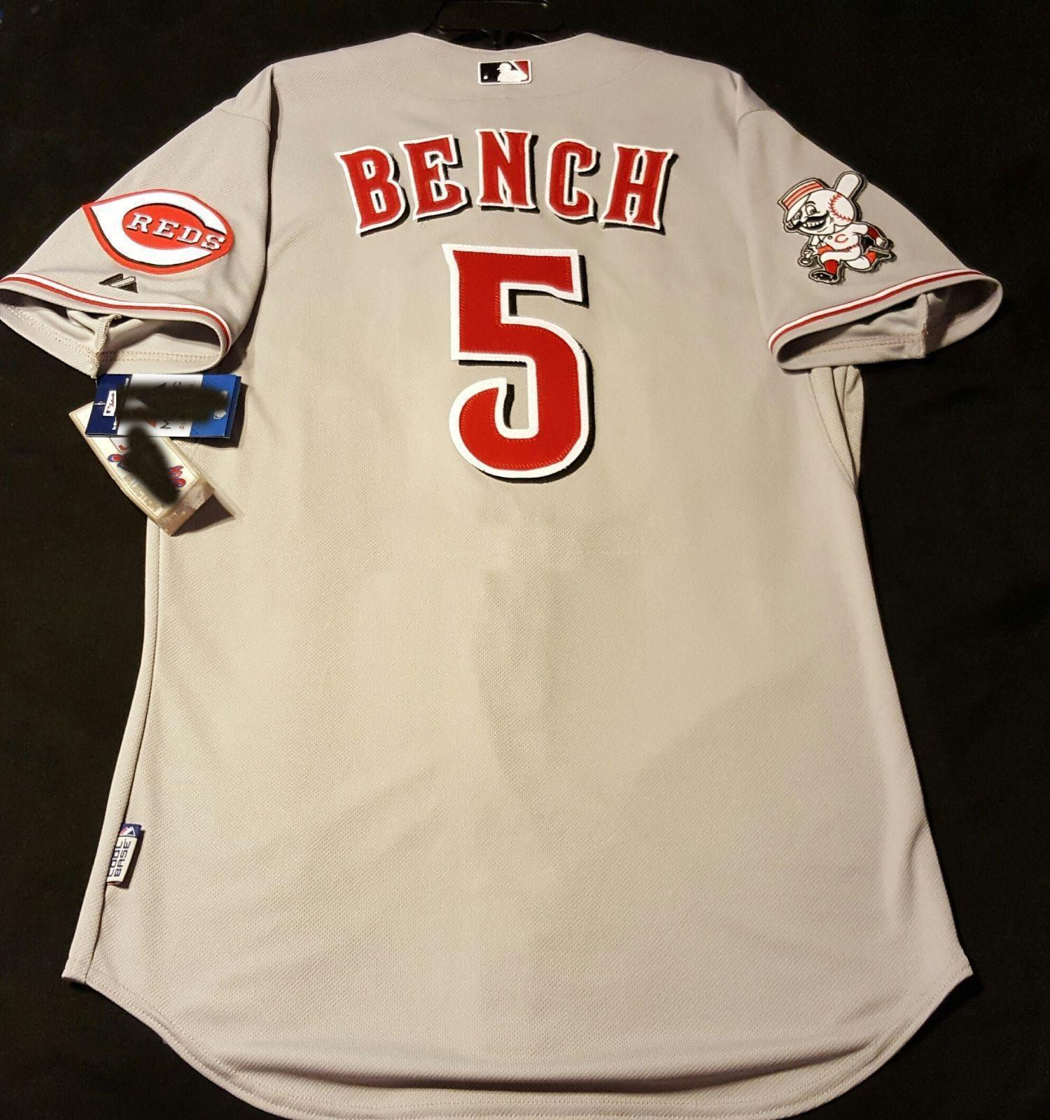 on sale e9c26 6c860 Cheap wholesale CINCINNATI JOHNNY BENCH GRAY COOL BASE Jersey Stitched  customize any number name MEN WOMEN YOUTH Vintage Jersey