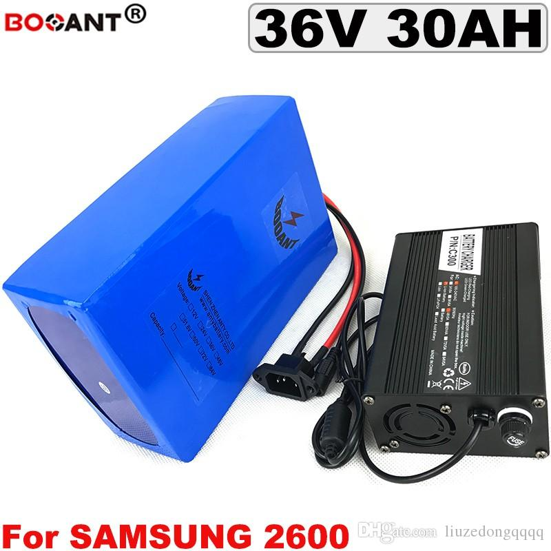 36V 30AH E-Bike Battery pack for Bafang BBSHD 1500W Motor Electric Bicycle  Lithium Battery 36V for Samsung 18650 with 5A Charger