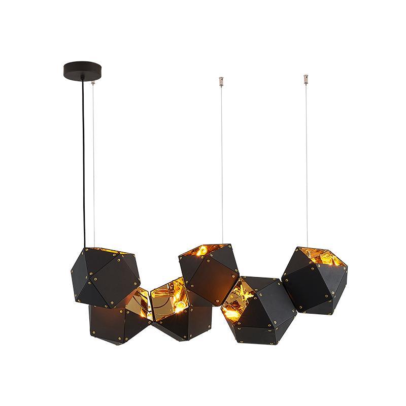 Acheter Luminaire Suspendu Moderne En Metal Noir Lampe De Salon Pour