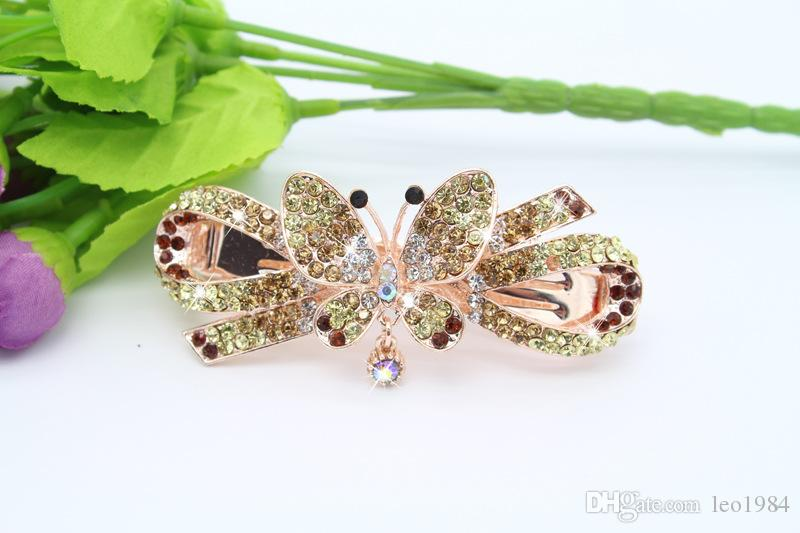 Korean Version Of Diamond Bow Lady Hair Clip Hair Accessories Spring Clip