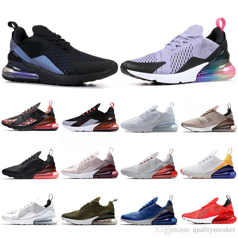 2019 Nike Air Max 270 Zapatillas de tenis para correr Cojines FUTURO Regency Purple BARELY ROSE Rosa Triple Blanco Negro Zapatillas de deporte para
